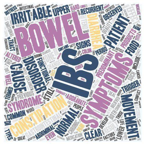 ibs and gut health word cloud